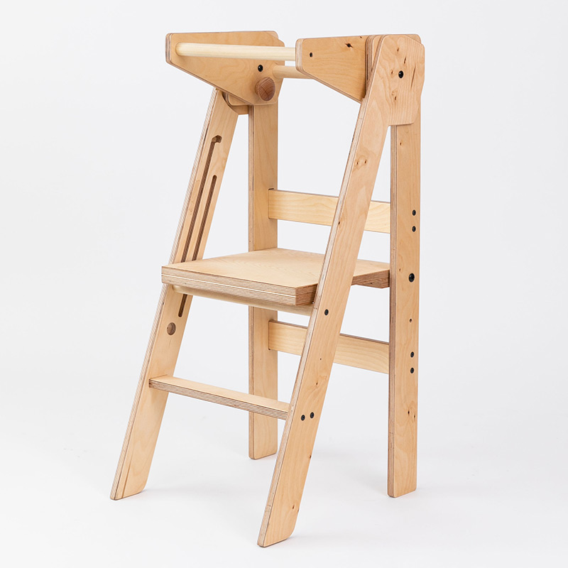 adjustable height folding learning tower